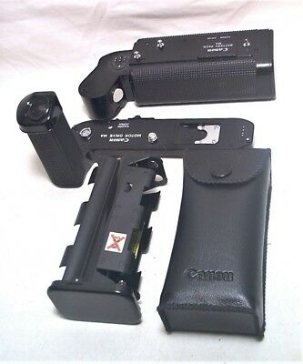 Canon A-1 Motor Drive Ma With 2 Battery Cartridges - Super Clean & Working