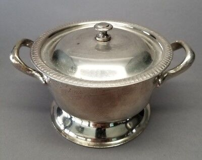Vintage HOTEL CARLYLE NYC?  Legion Utensils Silver Plate Bowl w/ Lid