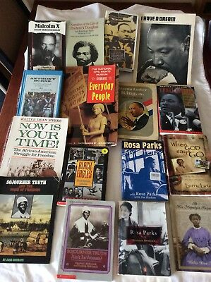 LOT of 15 Books African American Study Collection Black Interest History/1 VHS