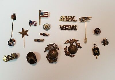 Vintage Military VFW Patriotic Act of Congress Pin Lot