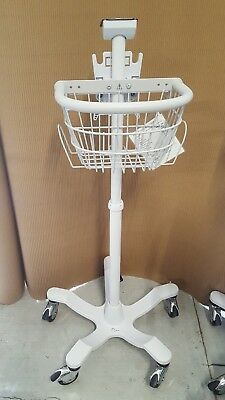 Welch Allyn Rolling Stand w/ Basket for Spot and Spot LXI Vital Sign Monitors