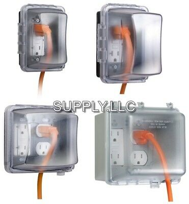 Outlet Protector Cover Outdoor Weatherproof Receptacle Electrical