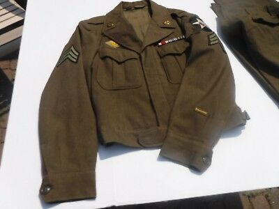 """WWII Military Uniform Second Infantry Division """"IKE"""" Jacket with trousers"""