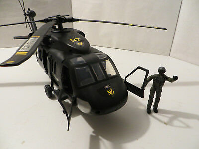Large SIKORSKY UH-60 BLACKHAWK Large Toy Plastic Helicopter with Pilot Figure