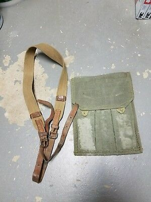 Soviet PPS 43 3-pocket magazine pouch and sling