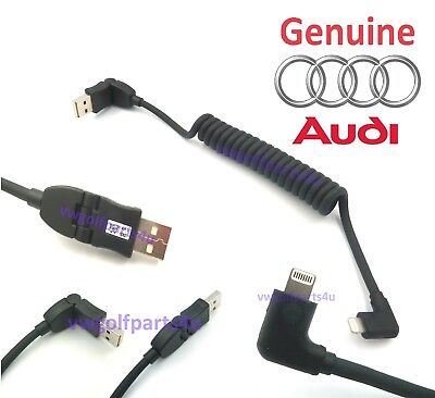 Genuine Audi USB Lead Apple iPhone 5 6 7 8 iPad iPod Lightning Cable 8S0051435D