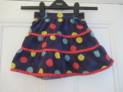 18-24m (2 years): Lovely cord skirt: Navy blue + colourful spots: John Lewis