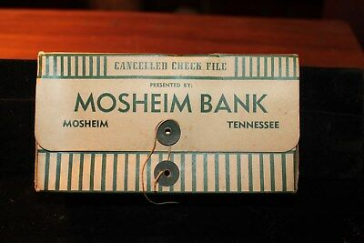 1950s Mosheim Bank Check Box Near Greeneville Tennessee Tenn TN