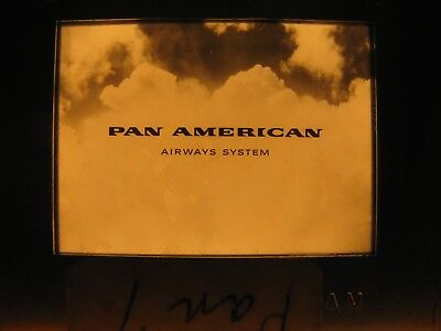 PAN AMERICAN AIRLINES Airway System Promo VINTAGE Walter Thompson Co. 35mm Slide