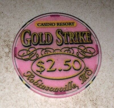 Gold Strike Casino $2.50 Robinsonville Mississippi Casino Chip 2.99 Shipping