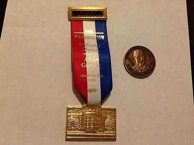 Clinton Inauguration Guest badge and coin