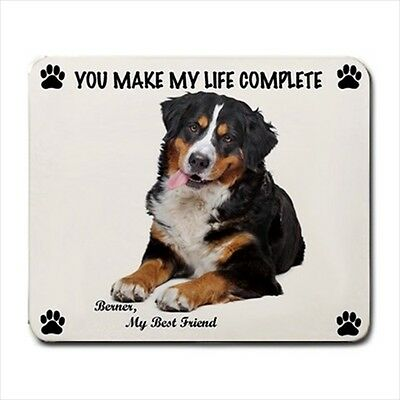 New Design Cute Adorable BERNESE MOUNTAIN Dog Puppy Rubber Computer MOUSE PAD