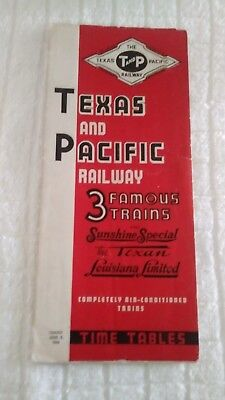 Texas and Pacific Railway Timetable (1940)