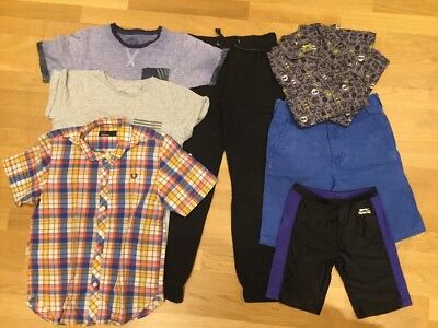 Boys Clothes Bundle Age 11-12-13-14 Years Next Fred Perry Shirt Shorts Tops