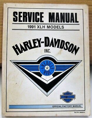 1991 Harley Davidson XLH MODELS SERVICE FACTORY Official MANUAL Motorcycle