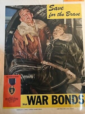 Save For The Brave - Original 1944 Wwii Poster - Aviation Pilot Rescue Beall Art