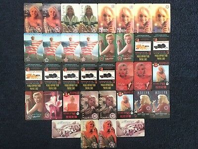 Marilyn Monroe phone cards MINT condition
