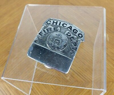 VTG Chicago Fire Department Belt Buckle American Limited Edition Pewter Historic