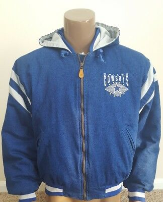 Dallas Cowboys Blue Silver Mens NFL Vintage 90 s Coat By Starter Size Medium 48d19f1e8