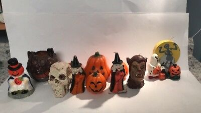 Vintage A Lot Of Halloween Candles Gurley