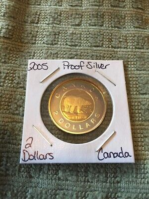 2005 Canada 2 Dollars Proof Silver And Toned