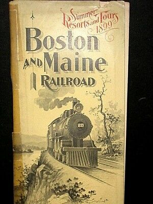 1899 Boston & Maine RR Summer Resorts & Tours. Fold out maps are awesome fair sc