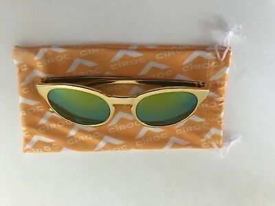 Ciroc Vodka Summer Colada gold sunglasses new with bag and packaged in plastic