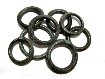 LOT OF 8 pcs. HIGH QUALITY CELTIC BILLON RING PROTO MONEY, TOP CONDITION+++