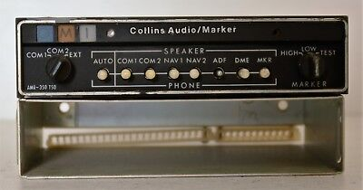 Collins Audio Panel Marker AMR 350 MODS 1,2,5,6 With Tray Untested