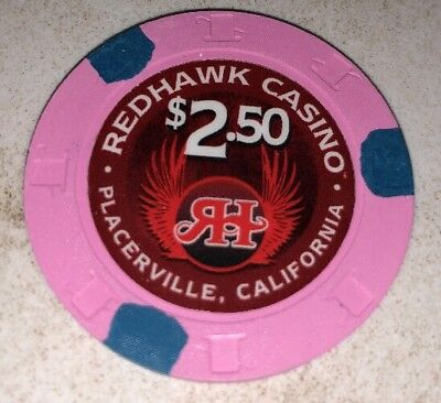 Redhawk Casino $2.50 Casino Chip Placerville  California 2.99 Shipping