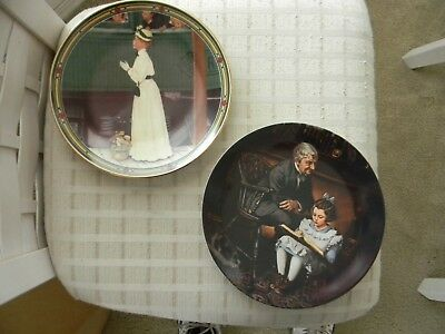 2 Norman Rockwell Collector Plates - 1986 & 1991 Limited Edition