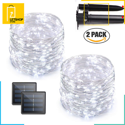 Solar LED String Lights 72 Feet 200 Powered Copper Wire Rope Outdoor Indoor DIY