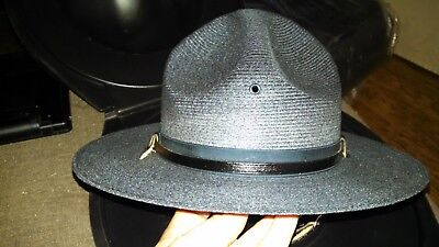Stratton Campaign Hat (Straw and blue in color and has rain cover)