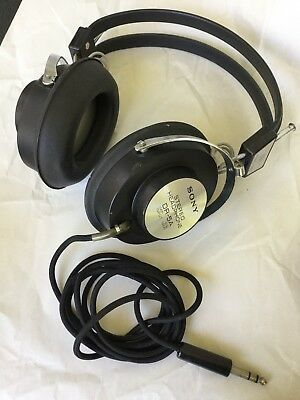 Vintage SONY DR-5A Stereo Headphones - Plug into Receiver Reel-to-Reel Turntable