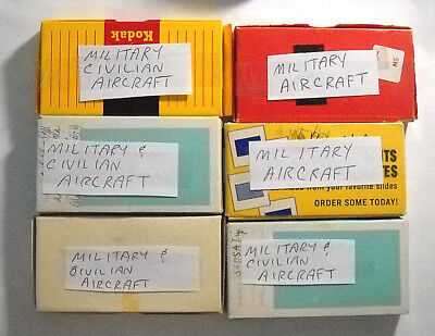 ( 100+ ) 35mm Kodachrome Aircraft Slides Mostly Military Some Civilian Airlines