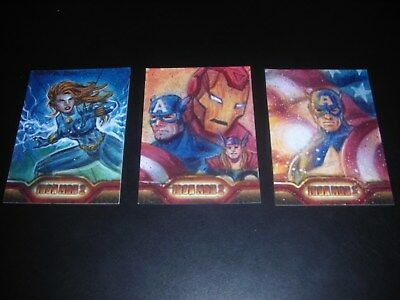 Lot Of 3 Iron Man 2 Artist Proof Ap Sketch Cards By David Rabbitte