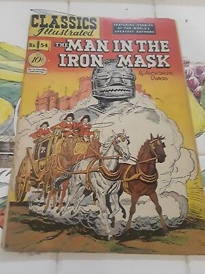 Classics Illustrated #54 HRN 55 THE MAN IN THE IRON MASK