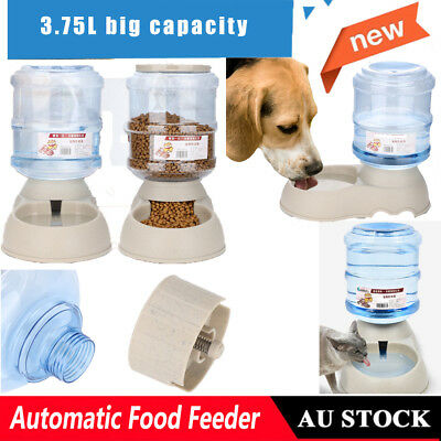 3.75L Automatic Pet Feeder Food Water Auto Cat Dog Food Bowl Dispenser