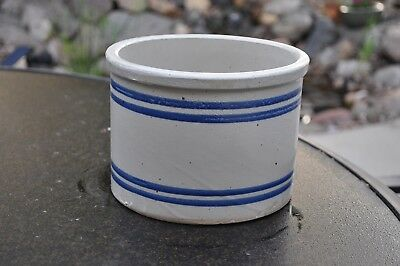 RED WING STONEWARE 5 lb POUND PANTRY JAR Blue Banded Butter Crock