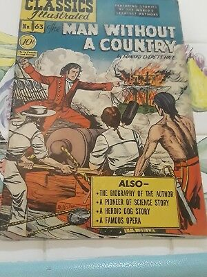 Classics Illustrated #63 HRN 62 MAN WITHOUT A COUNTRY
