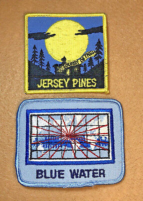 Vintage Jersey Pines & Blue Water Iron On Patch Lot