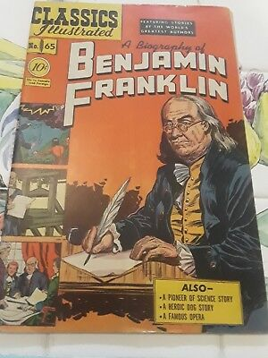 Classics Illustrated #65 HRN 64 A BIOGRAPHY OF BENJAMIN FRANKLIN