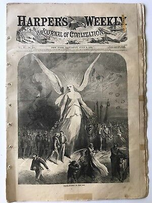 Harper's Weekly 7-8-1865 PEACE, Charleston SC, TRIAL OF THE CONSPIRATORS