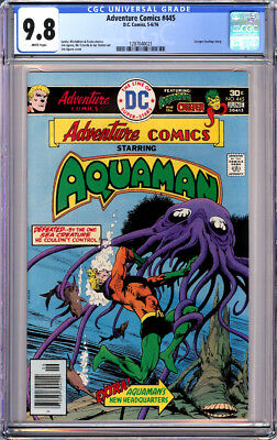 Adventure Comics Aquaman #445 Cgc 9.8 White Pages Jim Aparo 1976