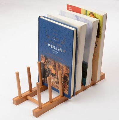 Bamboo Book Rack Stand Multifunction Rack Plate Drying Rack Cup Rack Holder