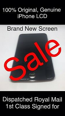 Genuine Original iPhone 6 S BLACK LCD Display Touch Screen Digitizer apple logo