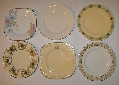 Lot of 6 Vintage English Bone China Side Plates * Swinnertons J & G Meakin +