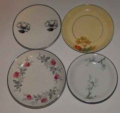 4 x Vintage China Pin Butter Dishes - RC Noritake Royal Staffordshire Barratts