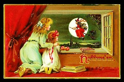 TUCK'S HALLOWEEN POSTCARD / Series 150 / Postmarked 1908 / Printed in Saxony
