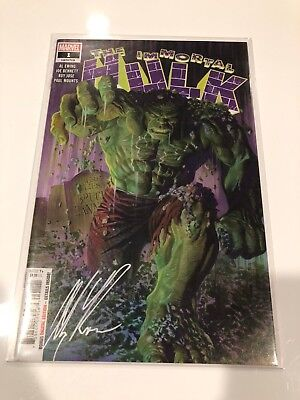 IMMORTAL HULK #1 Alex Ross SIGNED Cover - SOLD OUT